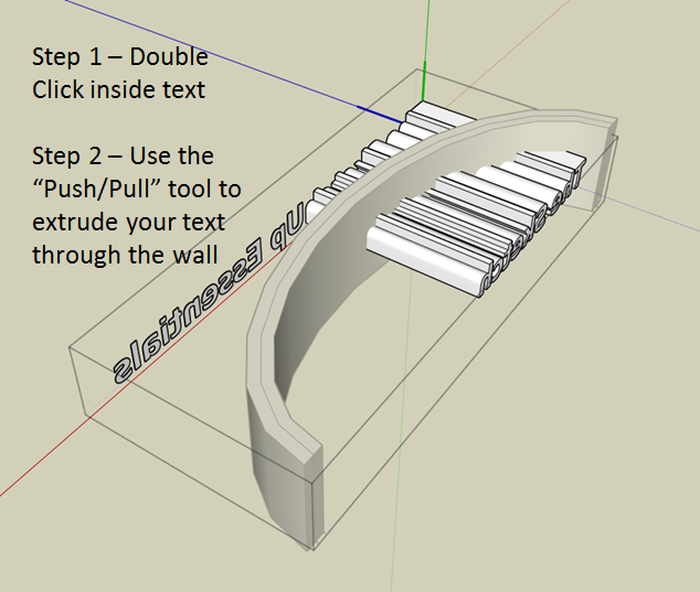 How to Create Curved Extruded Letters on a Curved Sign in