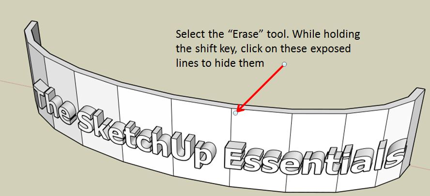 How to Create Curved Extruded Letters on a Curved Sign in SketchUp