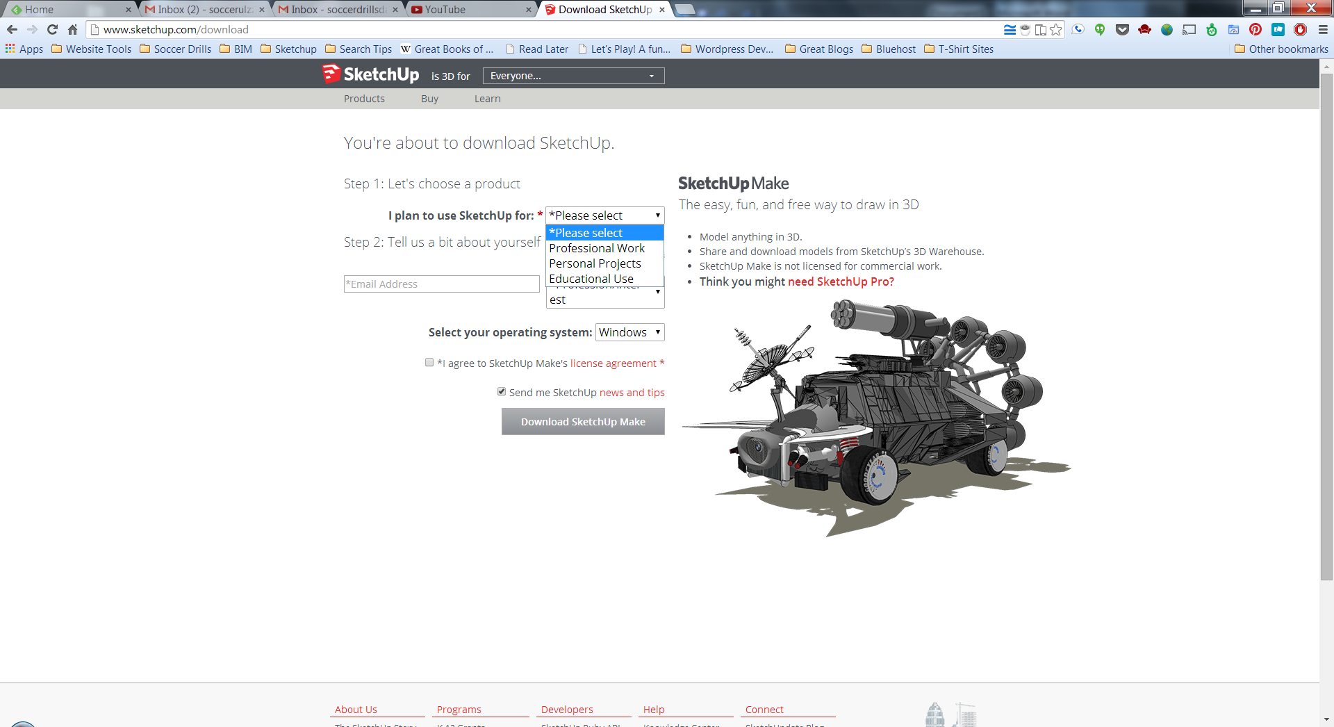 Downloading and Installing SketchUp Tutorial - The SketchUp Essentials