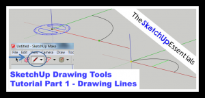 2D SketchUp Lines Tutorial Image