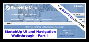 SketchUp UI and Navigation Tutorial Part 1 - Opening Options