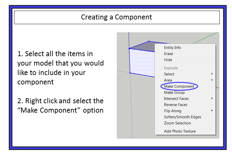 SketchUp Groups and Components - The Basics - The SketchUp