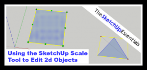 SketchUp 2d Scale Tool Tutorial Thumbnail
