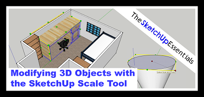SketchUp Scale Tool for 3D Objects Half Size Thumbnail