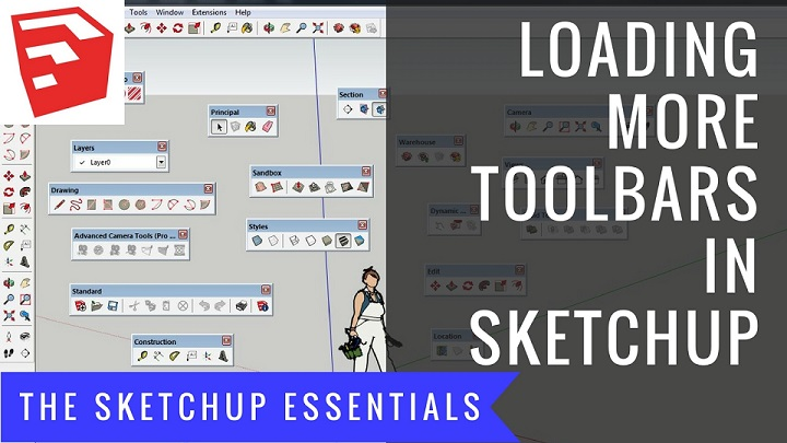 How to Get More Toolbars in Your SketchUp Workspace - The
