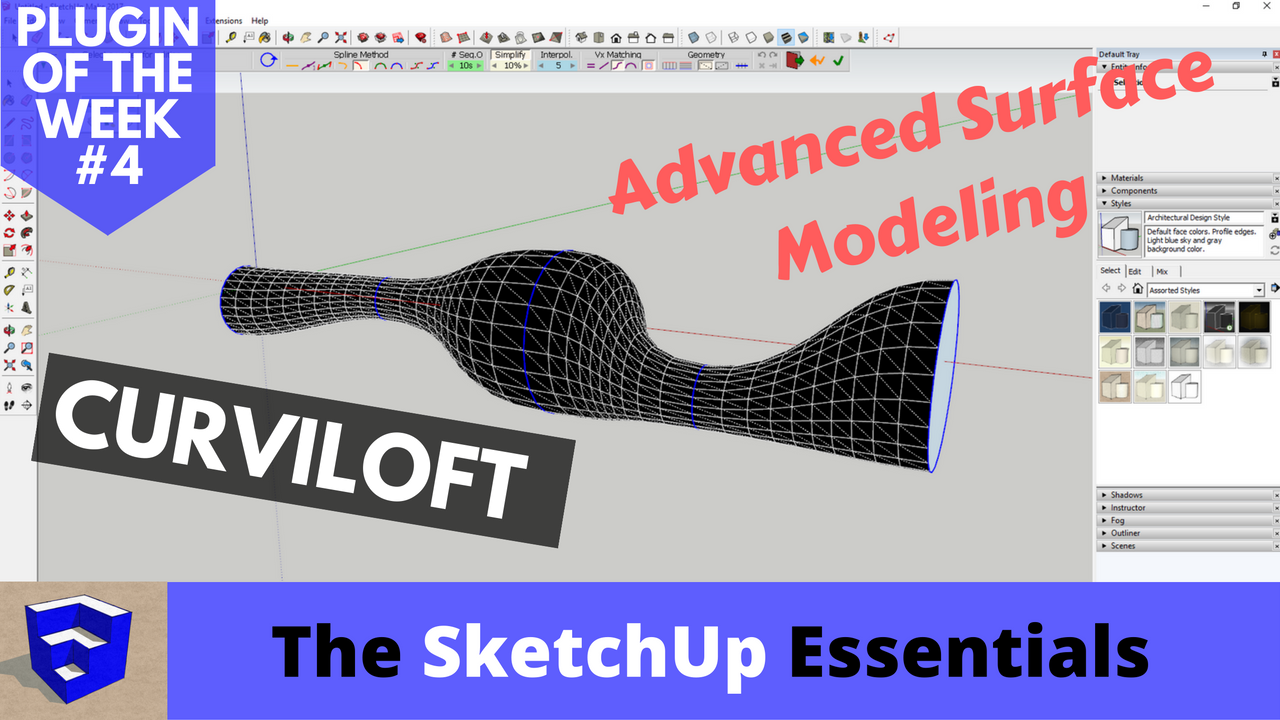 Advanced Surface Modeling with Curviloft - The SketchUp Essentials