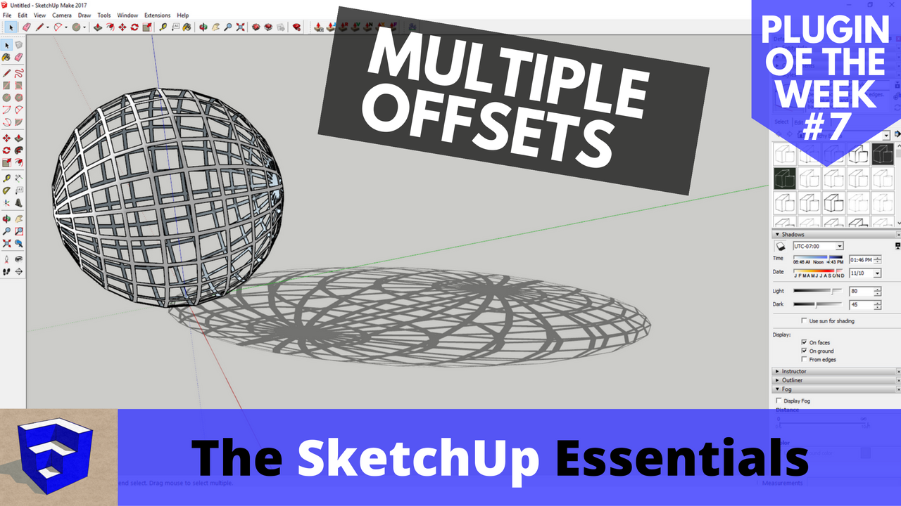 Offsetting Multiple Faces in SketchUp at Once – SketchUp Plugin of the Week #7