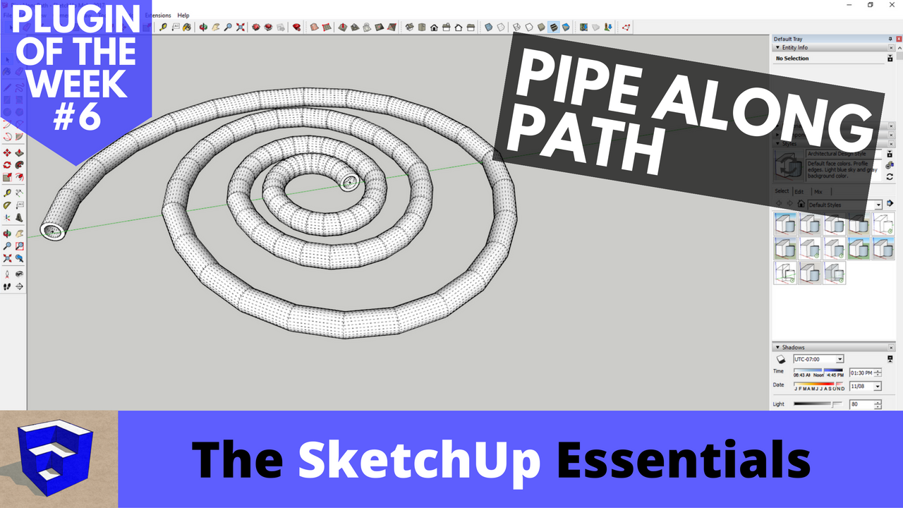 Create Pipes Along Paths in SketchUp with Pipe Along Path