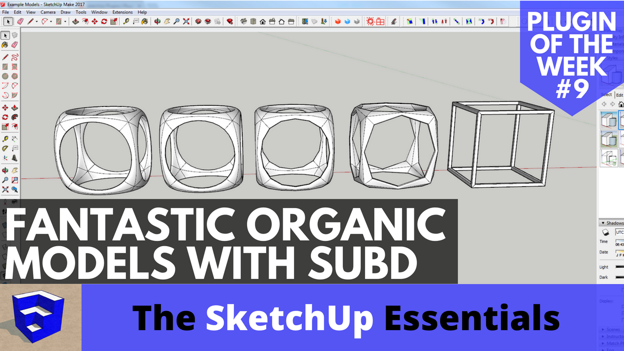 Organic Modeling with SubD - SketchUp Plugin of the Week #9 - The
