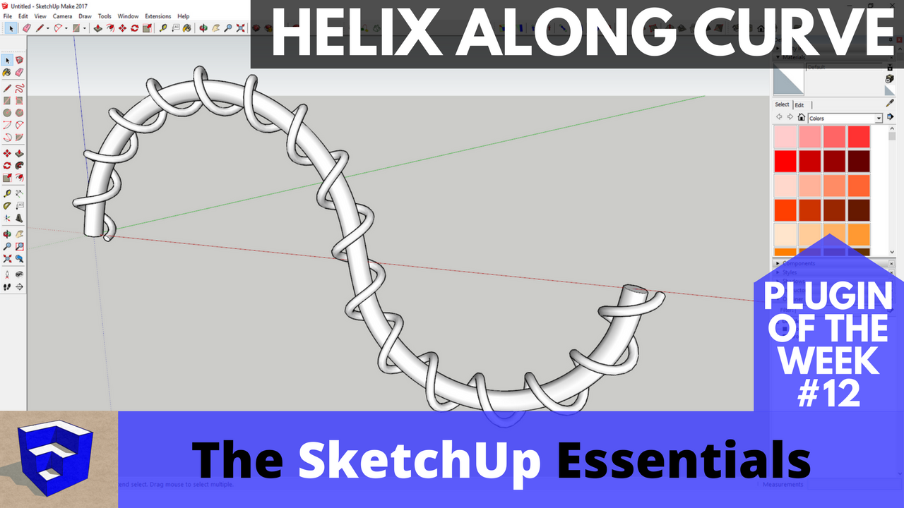 Create Helixes in SketchUp with Helix Along Curve - The SketchUp