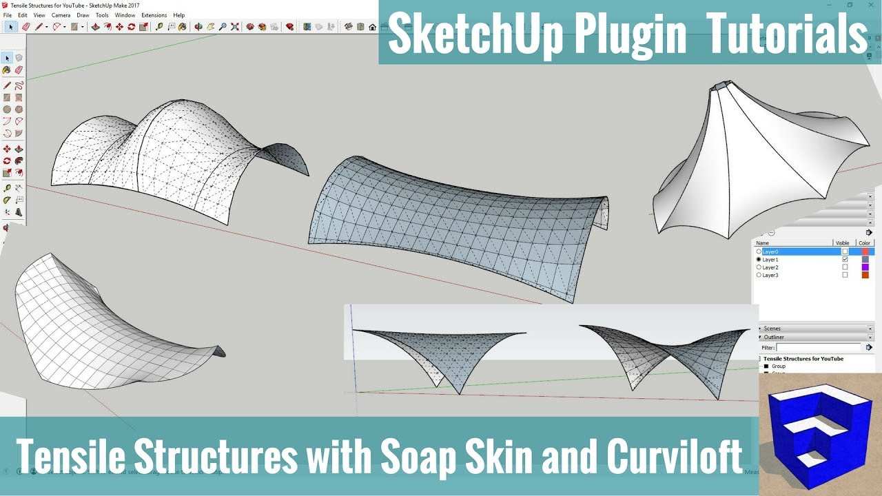 Modeling Tensile Structures With Soap Skin And Curviloft