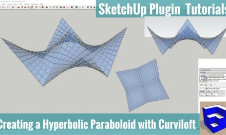 Creating a Hyperbolic Paraboloid in SketchUp with Curviloft – SketchUp Extension Tutorials