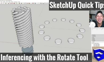 Using Inferencing with the Rotate Tool – SketchUp Quick Tips