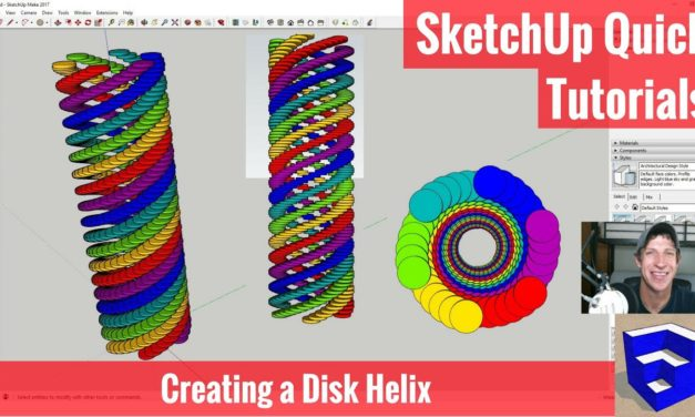 Creating a Disc Helix in SketchUp with No Extensions – SketchUp Quick Tutorials