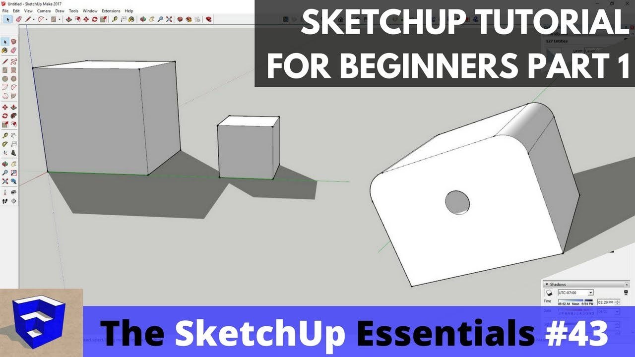 SketchUp Tutorial for Beginners - Part 1 - Basic Functions - The