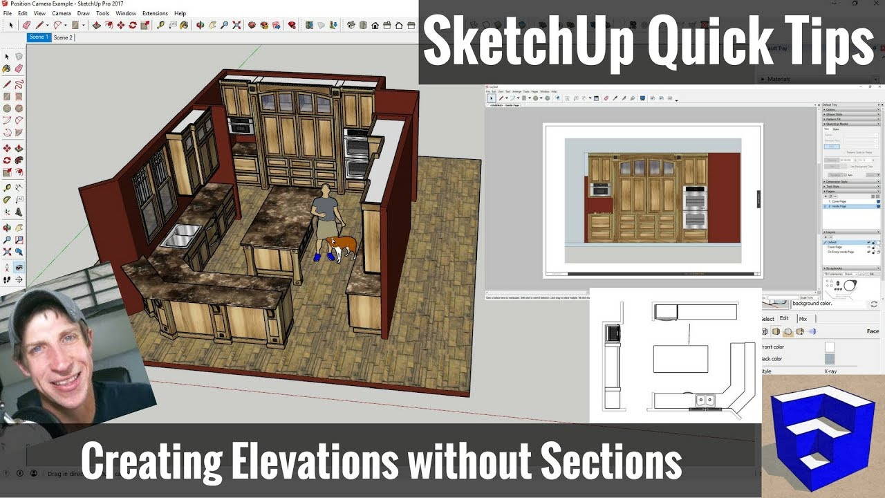 how to make a section cut on sketchup
