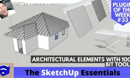 Modeling Architectural Elements in SketchUp with 1001Bit Tools – SketchUp Plugin of the Week #33