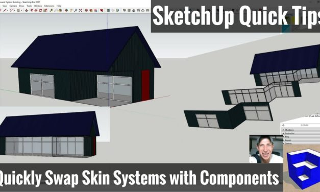 Quickly Swapping Skin Options in SketchUp with Components – SketchUp Quick Tips