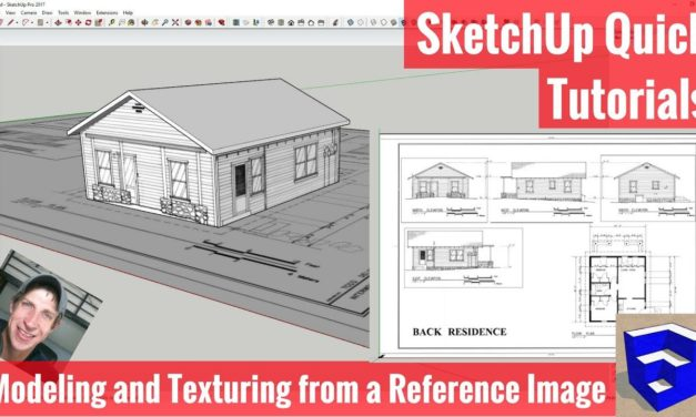 Modeling and Texturing from Reference Images in SketchUp