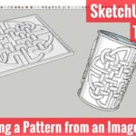 Modeling a Pattern from an Image in SketchUp – SketchUp Quick Modeling Tutorials