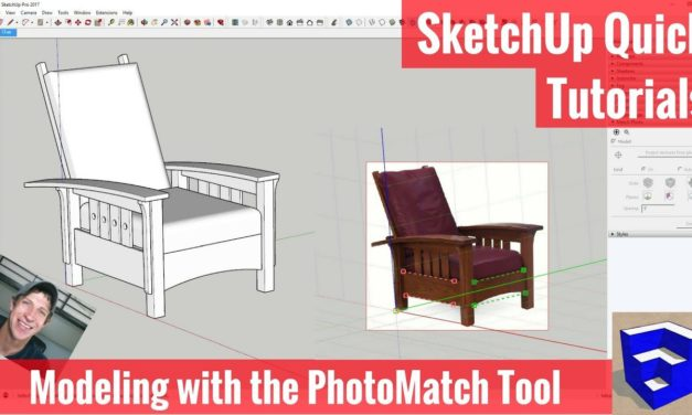 Modeling a Chair with Match Photo in SketchUp