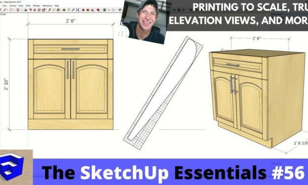 Printing Your SketchUp Models, Creating Elevations, and More – The SketchUp Essentials #56