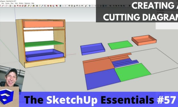 Creating a Cutting Layout in SketchUp for Woodworkers – The SketchUp Essentials