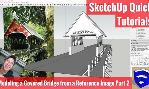 Modeling a Covered Bridge From a Reference Image – Part 2 – Structure and Fence