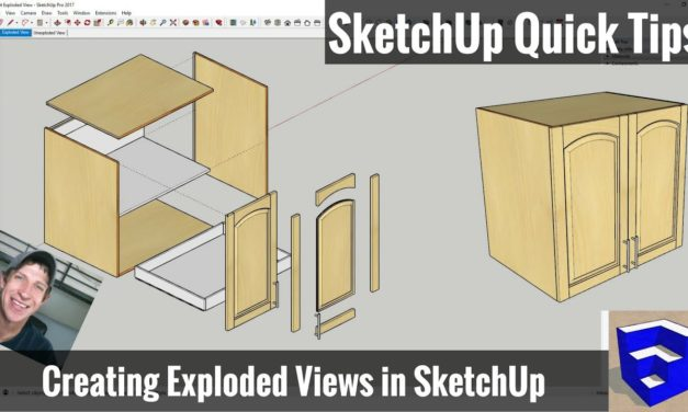 Creating an Exploded Model View in SketchUp – SketchUp Quick Tips