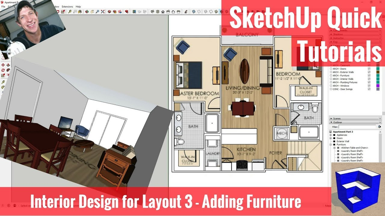 essentials part interior layout furniture for category adding design e sketchup archives the