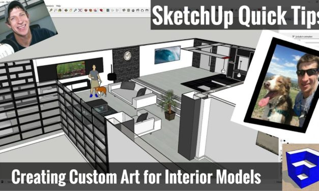 Creating Custom Wall Art for Your Models in SketchUp – SketchUp Quick Tips