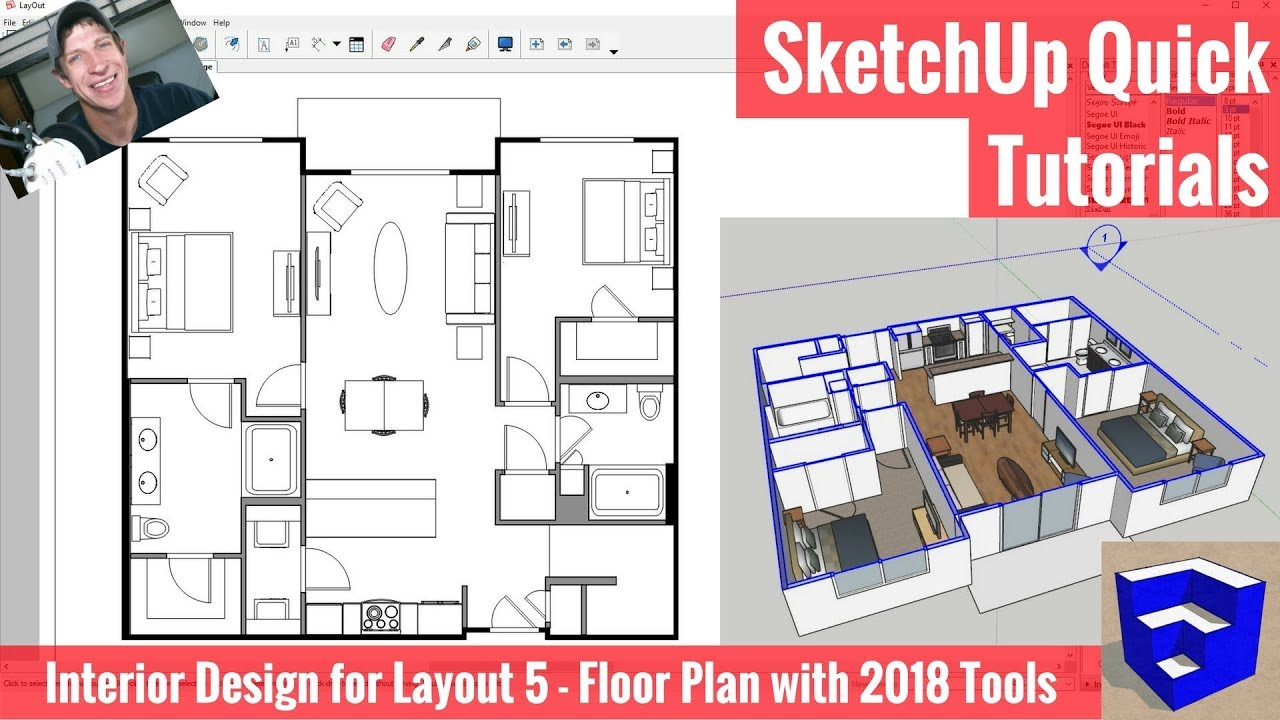 Creating a floor plan in layout with sketchup 2018 39 s new for Apartment floor planner tool