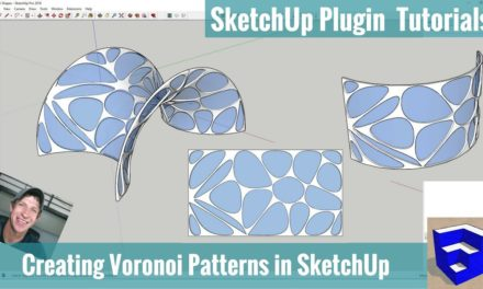 Modeling with Voronoi Patterns in SketchUp using Shape Bender and Radial Bend