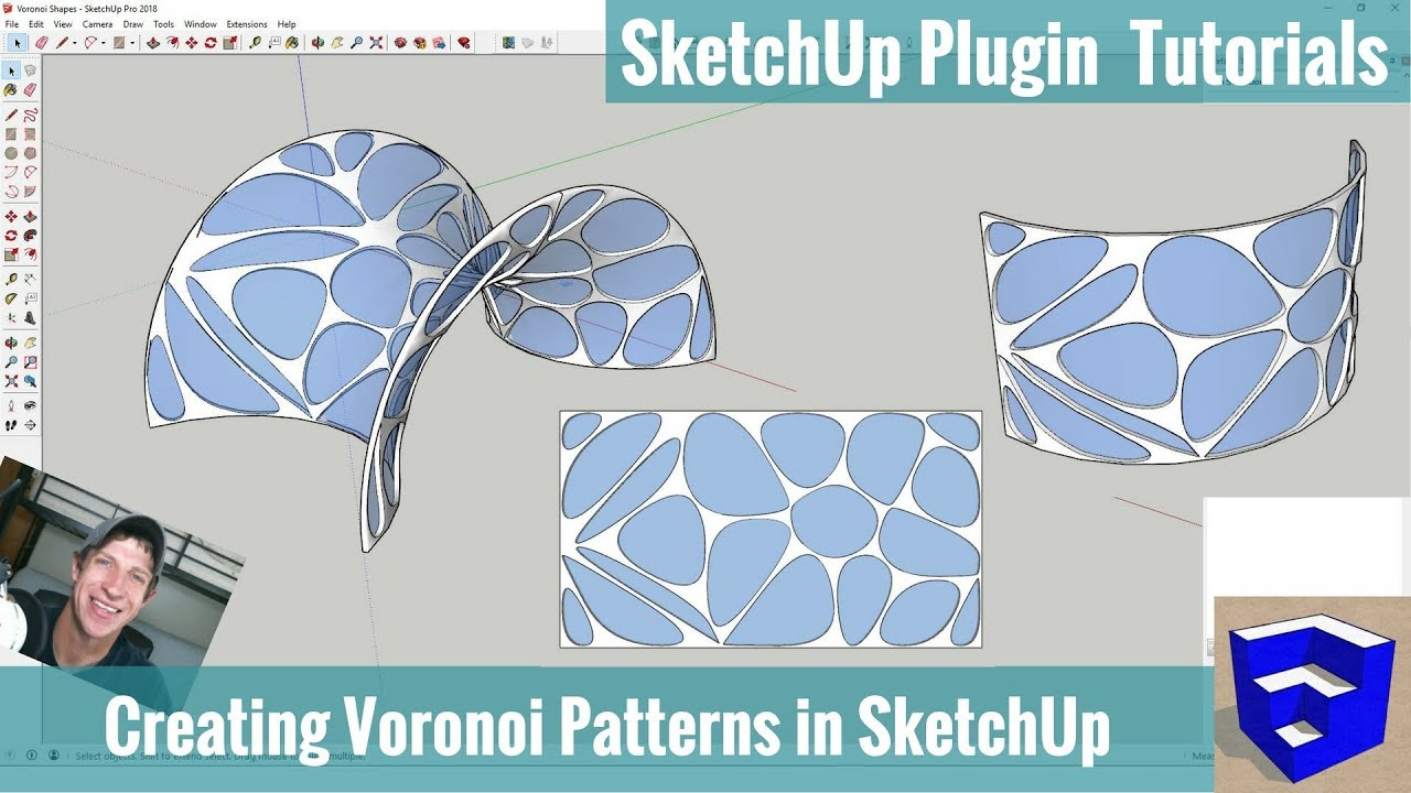 Modeling with Voronoi Patterns in SketchUp using Shape