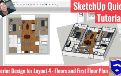 Creating Our First Floor Plan in Layout – SketchUp Apartment Interior Design Modeling 4