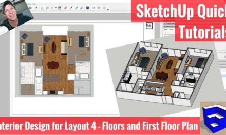 Creating A Floor Plan In Layout With Sketchup 2018 S New Tools Apartment For Layout Part 5 The Sketchup Essentials