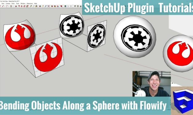 Bending Logos Along the Face of a Sphere in SketchUp with Flowify – SketchUp Star Wars Tutorial!