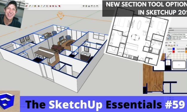 New Section Features in SketchUp 2018 – Section Fills, Lineweights, Labels, and More!