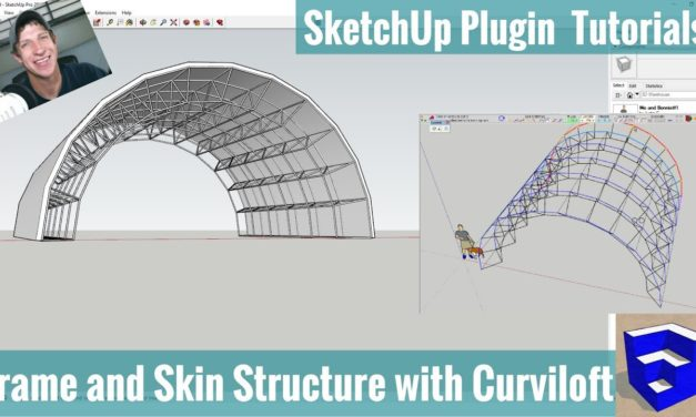 Modeling a Curving Truss Frame Structure in SketchUp with Curviloft
