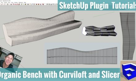 Modeling an Organic Bench with Slicer and Curviloft in SketchUp