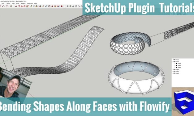 Bending Shapes along Faces with Flowify for SketchUp – Examples