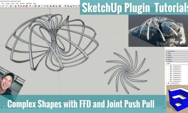 Create CRAZY SHAPES with FFD and Joint Push Pull for SketchUp!!! (RENDERED IN ENSCAPE!)