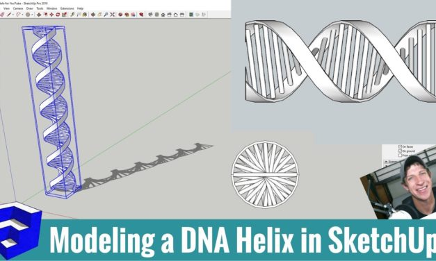 Modeling a DNA Helix in SketchUp with Curviloft and Helix Along Curve