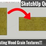 Changing Wood Grain Material Directions in SketchUp – SketchUp Tips for Woodworkers