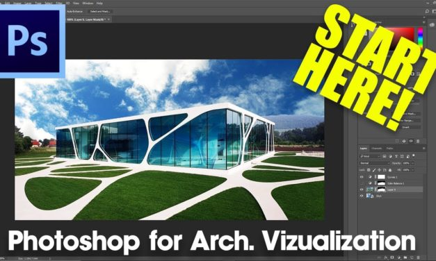 Photoshop LAYERS AND MASKS Tutorial for Beginners | Photoshop for Architecture Tutorial #1