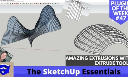 AMAZING Extrusions in SketchUp with Extrude Tools – ALL TOOLS EXPLAINED! – Extension of the Week #47