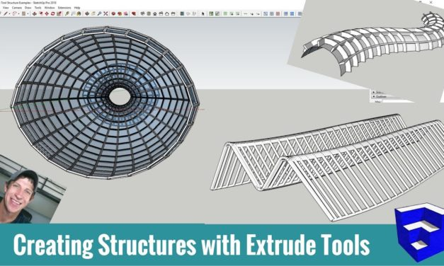 7 Ways to Model Structures in SketchUp with Extrude Tools