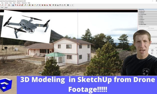 3D MODELING WITH A DRONE! Using Drone Footage with Photo Match in SketchUp