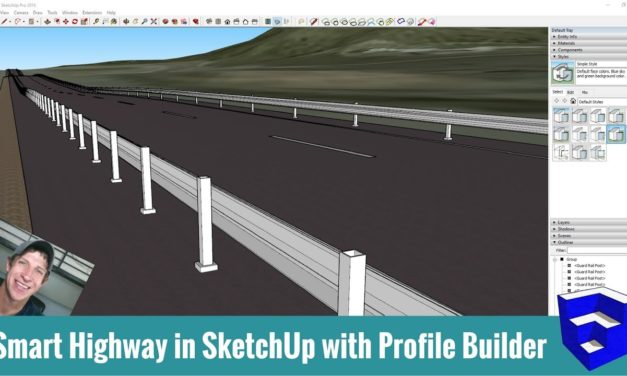 Modeling a Highway in SketchUp with Profile Builder!
