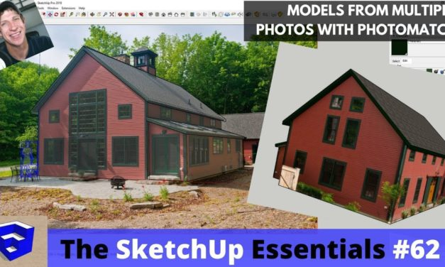 Creating Models from Multiple Photos in Photomatch in SketchUp